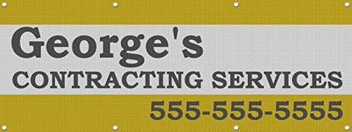 Contracting Services Phone Custom Personalized Mesh Fence Banner Sign