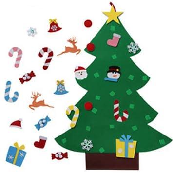 bda43d6f828 Joyibay Sentí el árbol de Navidad DIY Árbol de Fieltro Conjunto Pared de la  Puerta Decoración Colgante con Ornamento  Amazon.es  Deportes y aire libre