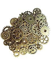 Gram diverse antieke Toestellen van Steampunk Bedels Sieraden Cogs Hanger Klok Wheel Kerstmis voor DIY Crafting Het maken van accessoires 50st, DIY high-end naai-benodigdheden voor volwassenen / kinderen / beginners / noodgevallen