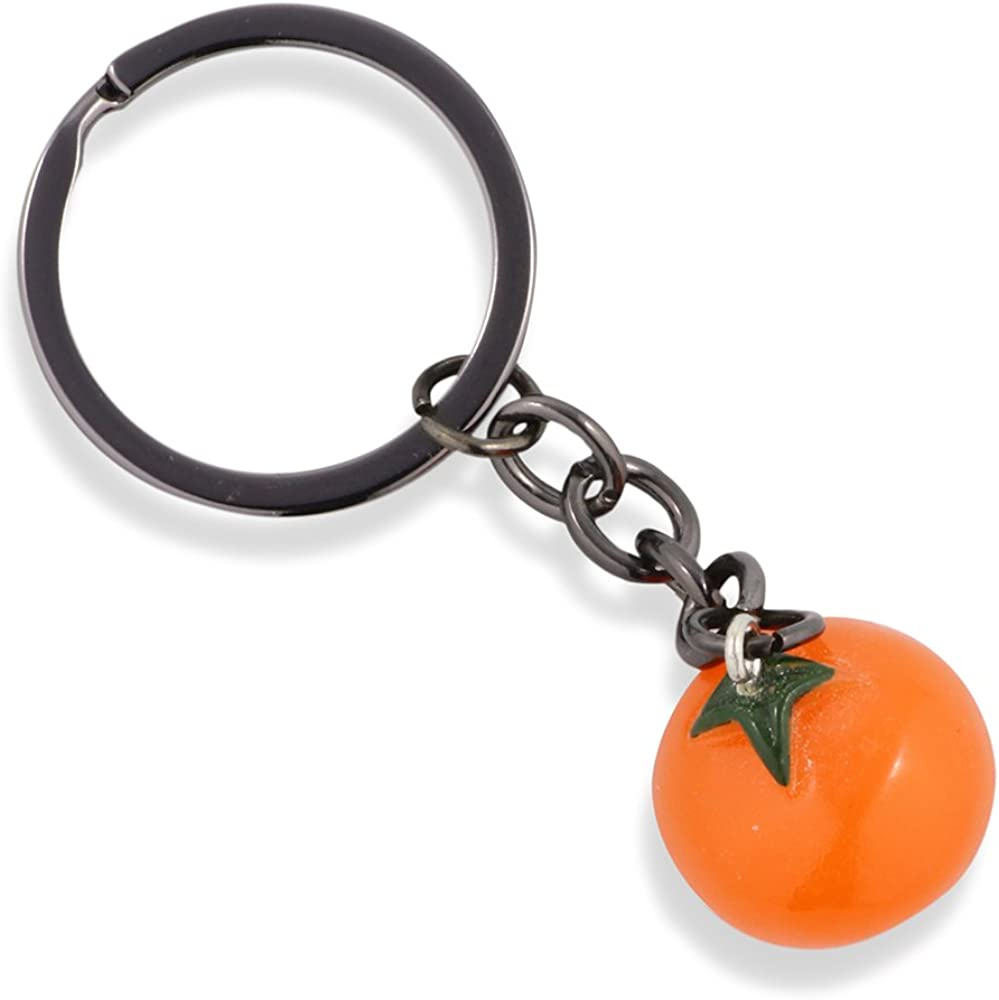 Tomato Keychain | Vegetable Keychain or Fake Food Keychain with a Tomato Food Charm as a Great Gift for Women Men Cooks Chefs or Sous Chefs or popular among Friends and Family Members that Love Food