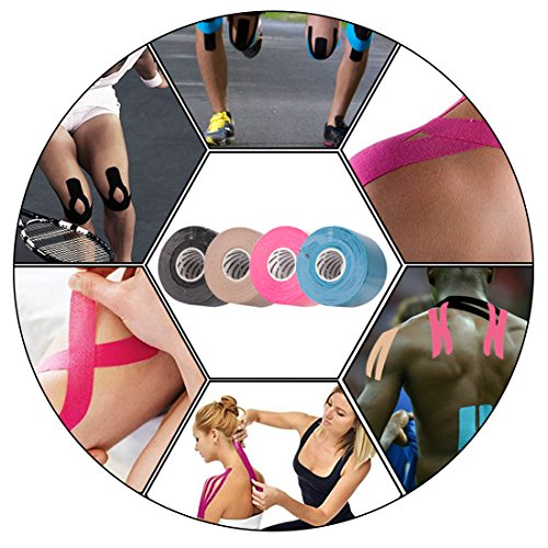 Kinesiology Tape for Sports,16ft Uncut Roll 1 Pack Rayon Fiber Kinesiology Tape, Muscle Support Adhesive, Latex Free by thereugokinexio by thereugokinexio (Image #3)