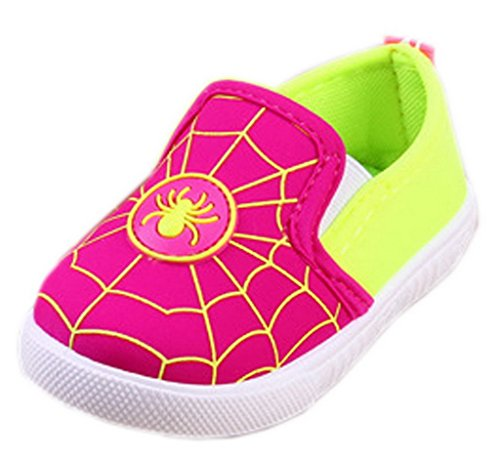 Lukis Baby Unisex Schuhe Sneakers Freizeitschuhe Krabbelschuhe Rosarot 17-Innenlänge 12,5cm