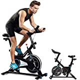 Cheap ncient Indoor Cycling Bike Trainer Spin Bike Professional Stationary Bike Cycle Exercise Bike for Home Cardio Gym Workout (Type-1(Black))
