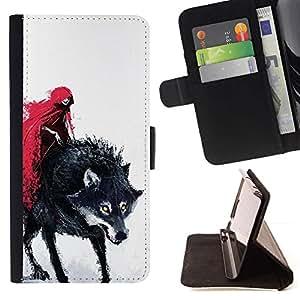 Momo Phone Case / Flip Funda de Cuero Case Cover - Rojo Cabo Caperucita muerte del hombre lobo - Sony Xperia Z5 Compact Z5 Mini (Not for Normal Z5)