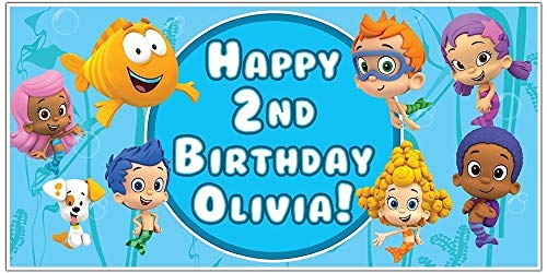 (Bubble Guppies Personalized Birthday Banner)