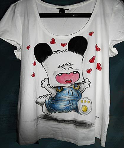 T-shirt dipinta a mano in cotone Hello Spank Maglietta personalizzata per gli amanti dei cartoni animati anni 80 Idea regalo