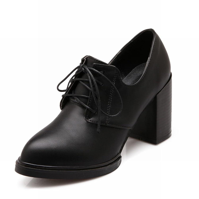 Show Shine Women's Fashion Chunky Heel Oxfords Shoes