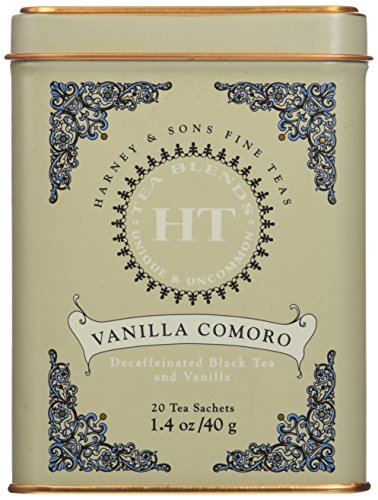 Harney & Sons Fine Teas Vanilla Comoro Tin - 20ct Sachets (Pack of 3)