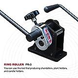 Kaka Industrial Ring Roller PR-3 Portable Hand Crank Round Bar Flat Stock Ring Roller
