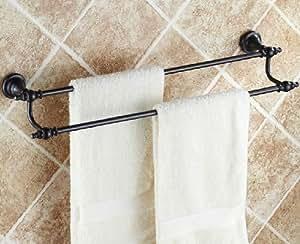 Ast toallero de barra doble construcci n de lat n for Toallero bronce