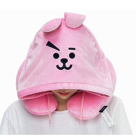 YICAO Kpop BTS BT21 Hoodie Neck Pillow Bangtan Boys Plush