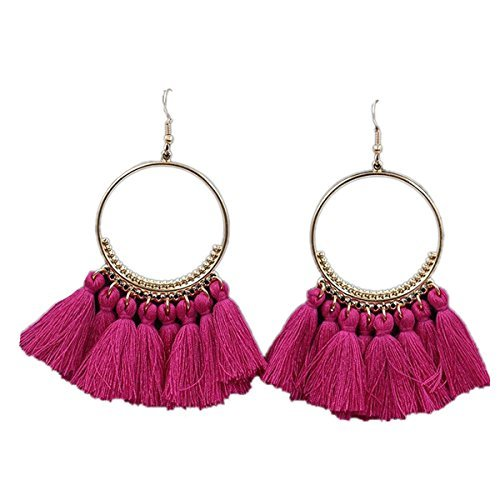 Peng Sheng New Fashion Bohemia nappa cerchio lungo ciondolo orecchini gancio