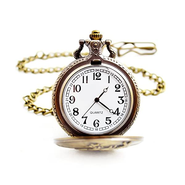 BOSHIYA Men's Pocket Watch Perfect Anniversary Gift Classic Vintage Quartz Watch Animal Deer Pocket Watch Accessories 4