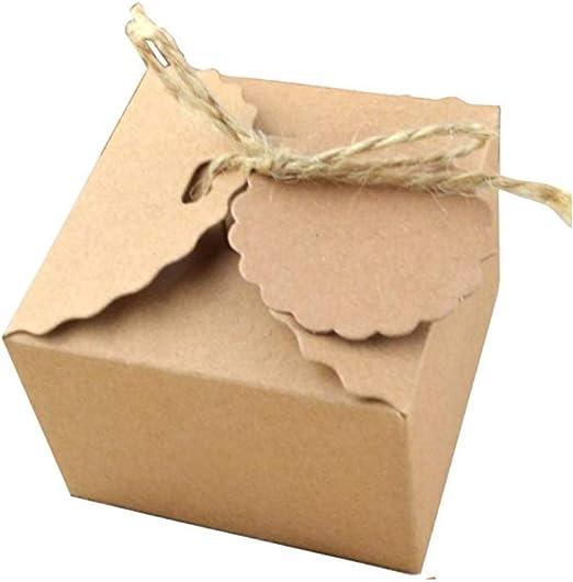 10 Stücke Falten Kraftpapier Geschenkkarton Geschenk Schachtel Karton