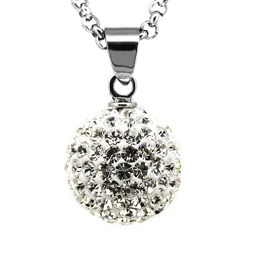 12mm Rhinestone Czech Crystal Disco Ball Fireball Bling Bling Pendant (Fireball Pendant)