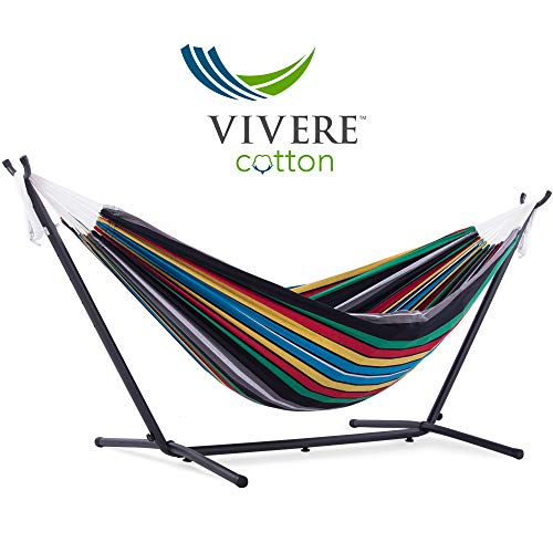 Vivere UHSDO9-27 Hammock with Stand, 9', Rio Night with Charcoal Frame