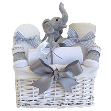 My first teddy elephant baby hamper unisexgrey baby shower gifts my first teddy elephant baby hamper unisexgrey baby shower gifts basketnewborn gifts negle Gallery