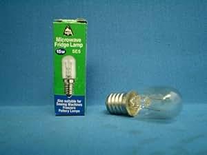 Pack de 3 Bombillas E14 15w, Microondas 240v / Nevera / Máquinas de Coser / Congeladores / Cerámica Lamp (Lámpara) Pequeño rosca Edison (SES)