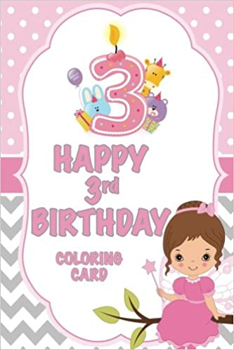 Happy 3rd Birthday Colouring Page | 499x333