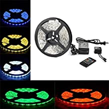 RioRand LED Strip Light Waterproof Outdoor 300LEDs 16.4 Feet 20keys Music Sound Controller Infrared Remote