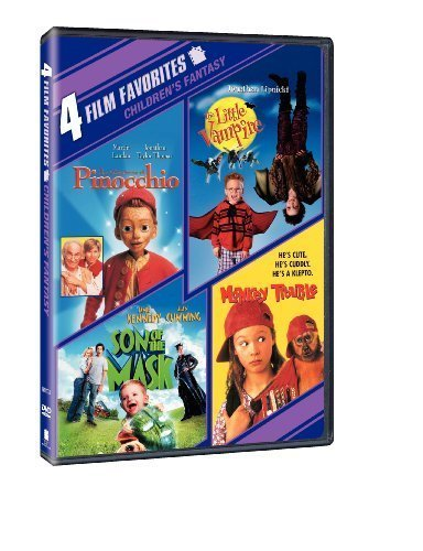 4 Film Favorites: New Line Family (The Adventures of Pinocchio, The Little Vampire, Monkey Trouble, Son of the Mask) by New Line Home Video by Various