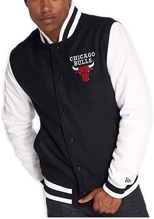 A NEW ERA Chaqueta NBA Chicago Bulls Contrast Varsity Negro XS (X-Small)