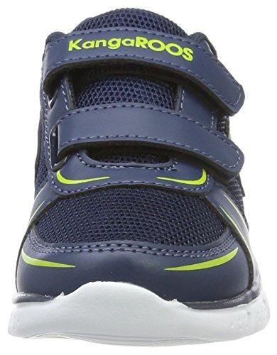 KangaROOS K-Reg V, Zapatillas Unisex Niños Blau (Dk Navy/Lime)
