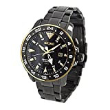 Seiko SUN026P1 Men's Kinetic Gmt,Stainless Steel Case & Bracelet,100m WR SUN026