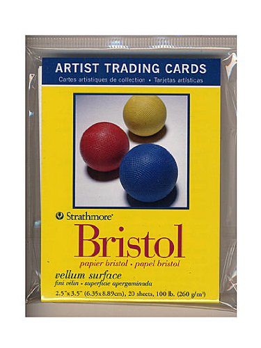 Strathmore Artist Trading Cards 300 Series Bristol Vellum pack of 20 [PACK OF 6 ] by Strathmore