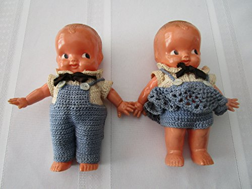Antique Kewpie Dolls - Antique Celluloid Kewpie Doll Twins