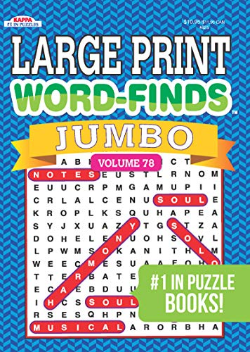 Jumbo Large Print Word-Finds Puzzle Book-Word Search Vol 78