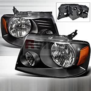 ford f 150 2004 2005 2006 2007 2008 euro headlights black automotive. Black Bedroom Furniture Sets. Home Design Ideas