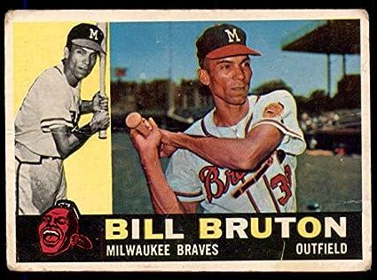 Amazoncom 1960 Topps 37 Bill Bruton Milwaukee Braves