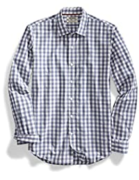 Goodthreads Men's Slim-Fit Long-Sleeve Large-Scale Gingham Shirt