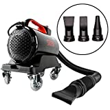 SGCB PRO Car Air Dryer, 5.0 HP Powered High Speed & Power Car Air Blower Cannon Adjustable Car Air Blaster Non-Contacting Air Jet with Max 3m/9.8Ft Hose & 3 Jet Mouths For Entire Car Wash Water Drying