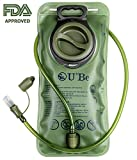 Hydration Bladder - 70 oz (2L) BPA free Water Pack for Running Hiking Biking with 39,4'' Hose and Shutoff Valve