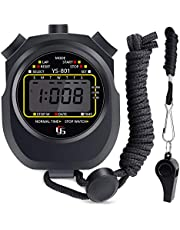 HICOO Cronometro Sportivo con Fischio Impermeabile Grande Schermo Digitale Cronometro per Fitness, Corsa, Allenamento Basket