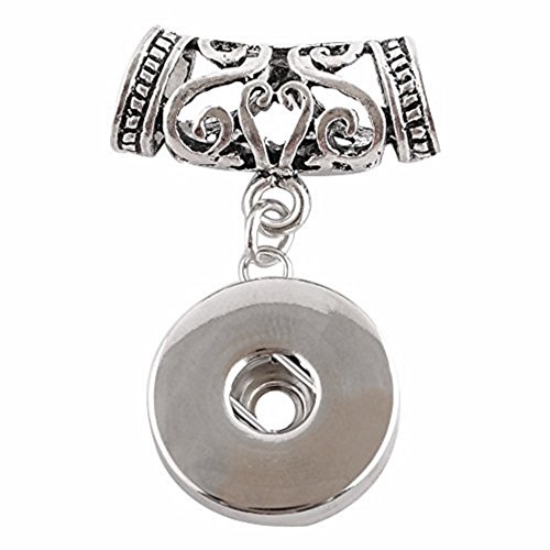 (My Prime Gifts Interchangeable Chunk Snap Button Jewelry Pendant - Slide Designer Holds 18-20mm)