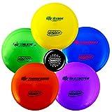 Innova Premium Beginner's Disc Golf Set – GStar Putter, Mid-Range, Driver – Durable, Flexible and Supple Plastic– Colors Will Vary – 150-169g (5 Pack)