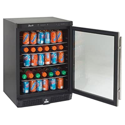 Avanti 4.8 cubic ft. Built-In All Refrigerator-Glass Door with Stainless Steel Frame