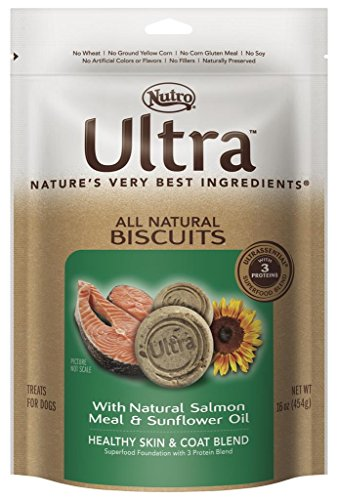 Nutro ULTRA Healthy Skin and Shiny Coat All Natural Dog Treat With Salmon and Sunflower Oil, 16 oz. Healthy Skin Shiny Coat