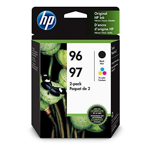 (HP C9353FN#140 96 Black & 97 Tri-color Original Ink Cartridges, 2 Cartridges)