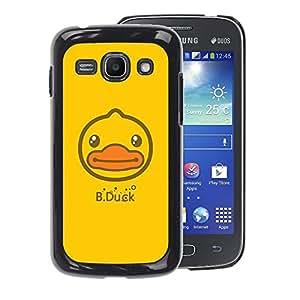 A-type Arte & diseño plástico duro Fundas Cover Cubre Hard Case Cover para Samsung Galaxy Ace 3 (Yellow Happy Drawing Cute)