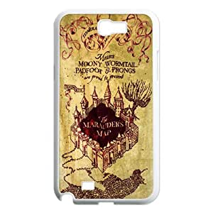 Fashion Design Marauder's Map Hard Plastic Back Protective Case for Samsung Galaxy Note2 N7100 FC-1