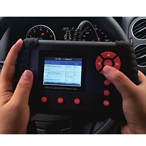 Car OBDII/OBD2 Code Reader, 2.8''LCD Color Display ILink410 Diagnostic Scan Tool for ABS Air Bag SRS Clear EPB Reset SAS Calibration Warning Light Turn Off by VIDENT (Image #3)