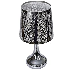 Electric Metal Woodland Scene Oil and Tart Warmer Lamp with Dimmer