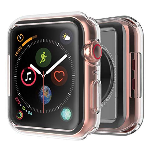 Cubevit Apple Watch Series 4 Case 40mm 2018, Clear Soft TPU Bumper Case Compatible with iWatch Cover, Shock-Absorption Ultra Thin Scratch Resistant Protective Case for New Apple Watch Series 4 (40mm)
