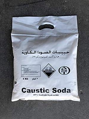 Caustic Soda (Sodium Hydroxide) 5Kg Bag - AST: Amazon com