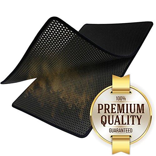 "Motliner XXL Premium Cat Litter Catcher Trap Mat (31.5"" x 21"") - Easy to Clean"