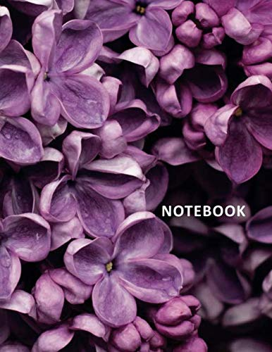 Florist Rose Purple (College Ruled Notebook: Purple flowers in Texas Beautiful Student Composition Book Daily Journal Diary Notepad for studying how to become a florist)